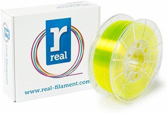 REAL Filament PETG transparant geel 1.75mm (1kg)
