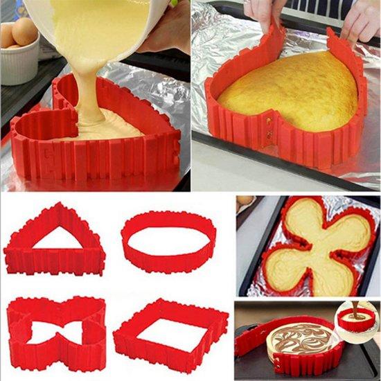 MASTERloot Siliconen Bakvorm - Bake Snake - Alle Mogelijke Vormen - Cakevorm - Taartvorm - Tulband