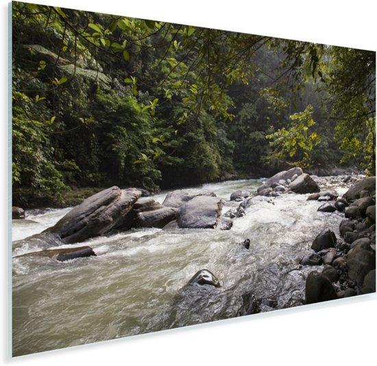 Bahorokrivier bij het Indonesische park Gunung Leuser in Azië Plexiglas 90x60 cm - Foto print op Glas (Plexiglas wanddecoratie)