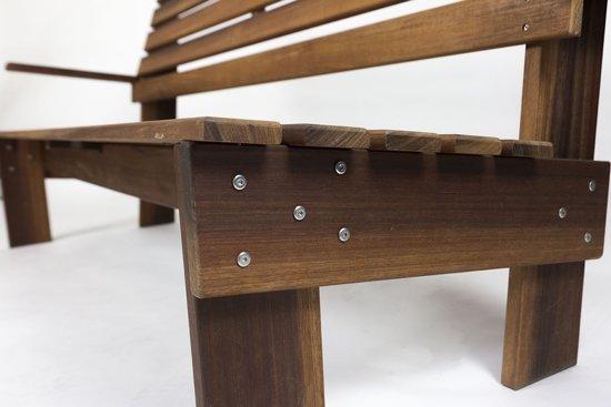MaximaVida tuinbank Famous design 120 cm- uit exclusief mahoniehout