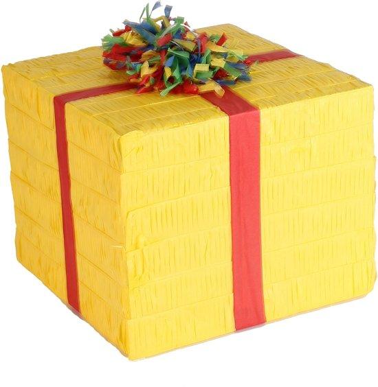 Amscan - Pinata cadeau pinata - geel Valentinaa