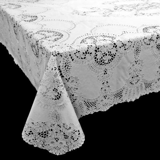 Terraskleden/Tafelkleden  Amira Vinyl 137x180 cm Wit