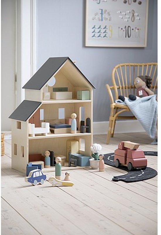 Sebra houten poppenhuis familie