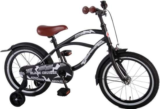 Volare Black Cruiser - Kinderfiets - 16 inch - Jongens - Zwart