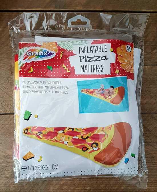 Grafix - Zomers Luchtbed Waterpret Assortiment: Waterijsje / Watermeloen / Ananas / Pizza