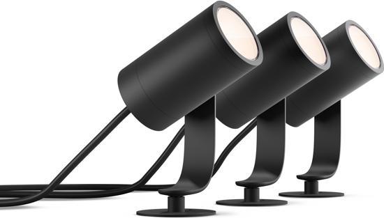 Philips Hue Lily starterkit - Prikspot - 3 Lichtpunten - zwart  - 3 x 640lm