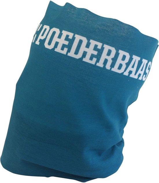 Poederbaas nekwarmer - blauw, Poederbaas nekwarmer, nekwarmer voor de wintersport