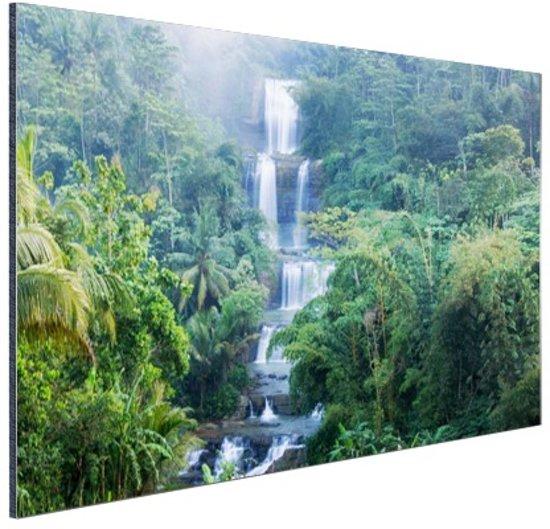 Nangga waterval Indonesie Aluminium 120x80 cm - Foto print op Aluminium (metaal wanddecoratie)
