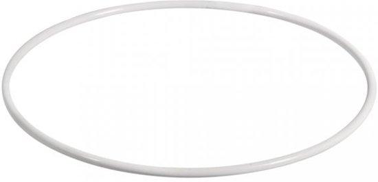 Set van 10 metalen ringen wit Ø45cm