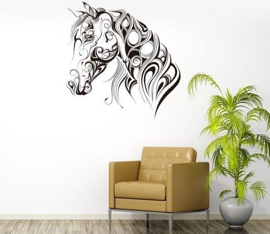 Paarden Sticker Muur.Bol Com Mooie Muursticker Paardenhoofd Abstract Dieren Sticker