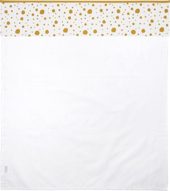 Meyco ledikantlaken Dots - 100x150 cm - okergeel