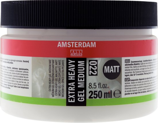 Amsterdam schildermedium flacon 250ml - extra heavy gel - mat
