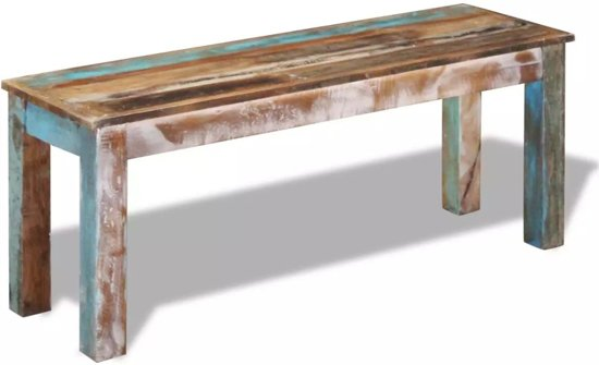 vidaXL Bank massief gerecycled hout 110x35x45 cm
