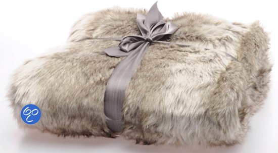Imitatiebont Plaid Wolf.Lavandoux Bont Plaid Alaskan Wolf 130x170