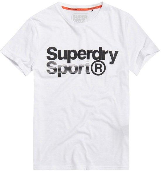 Superdry Shirt - Maat L  - Unisex - wit/ zwart