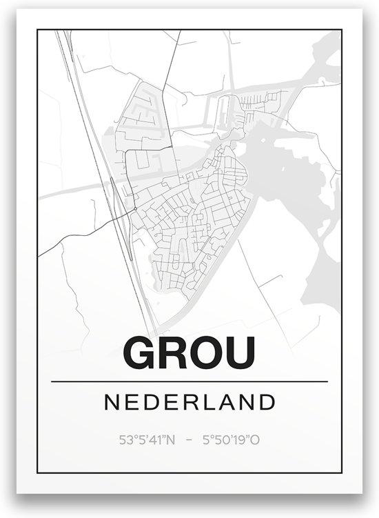 Poster/plattegrond GROU - 30x40cm