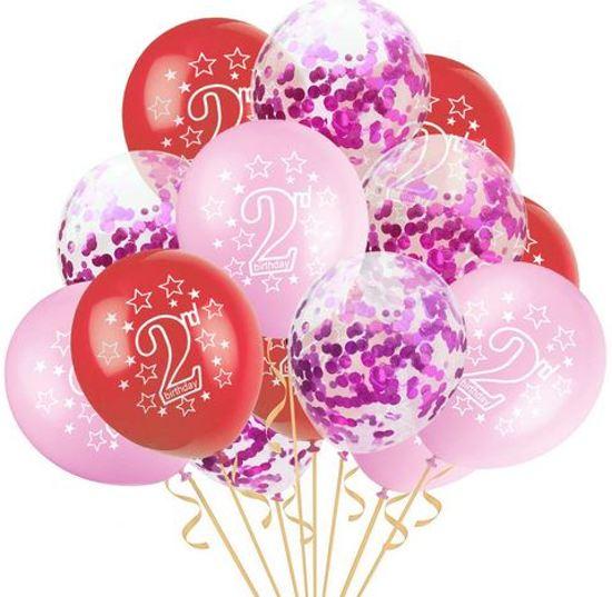 Bolcom 15 Stuks Ballonnen Verjaardag Meisje 2 Jaar Inclusief
