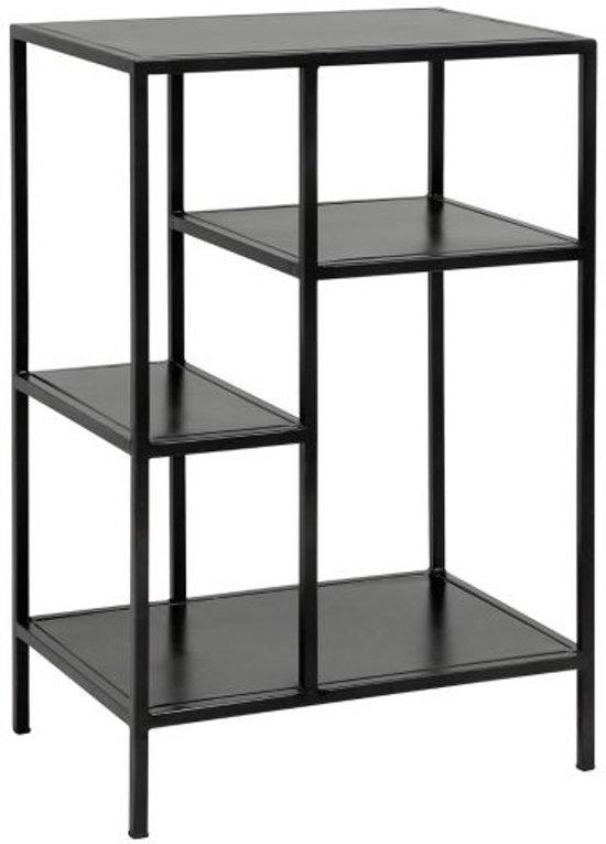 Zwarte Stellingkast Metaal.Nordal Stellingkast Display Metaal Zwart 74 X 50 X 35