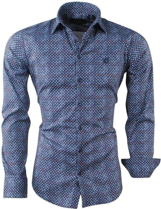 Design Navy Overhemd Met Ferlucci Trendy Heren Calabria Yq5AI