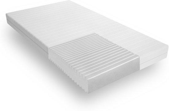 Matras - 80x190 - 7 zones - koudschuim - premium tijk - 15 cm hoog - medium & hard