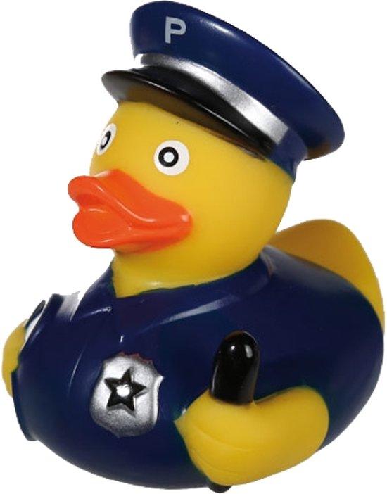 Badeend politieman 8,5cm