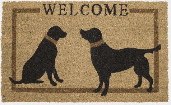 Mars & More - Kokosmat - Deurmat - Welcome Honden - 45x73 cm