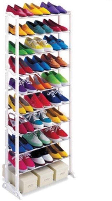 Schoenenkast Voor 24 Paar Schoenen.Bol Com Schoenenrek Schoenenkast Voor 30 Paar Schoenen