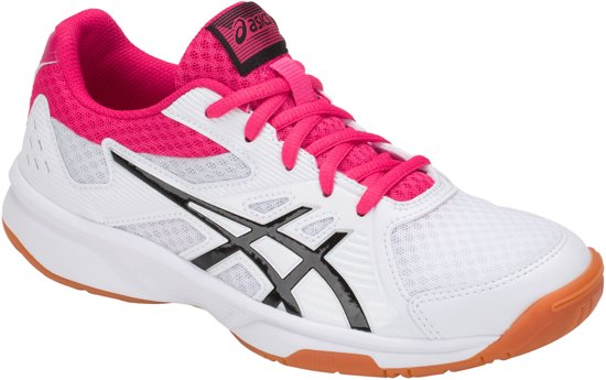 gedachten over kijk uit voor beste website Asics Gel-Upcourt Indoorschoenen Dames Sportschoenen - Maat 41.5 - Vrouwen  - wit/ zwart/ roze