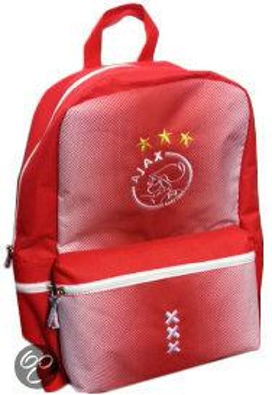 23d530504c1 bol.com | Ajax Rugzak groot rood wit logo 44 x 30 x 16 cm