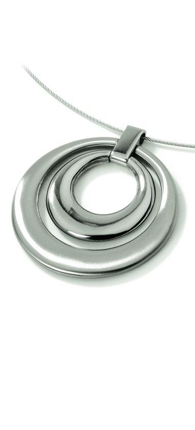 Boccia Titanium 0724-01 Hanger - Titanium - Zilverkleurig