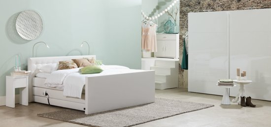 goossens boxspring lloyd 160 x 200 cm. Black Bedroom Furniture Sets. Home Design Ideas