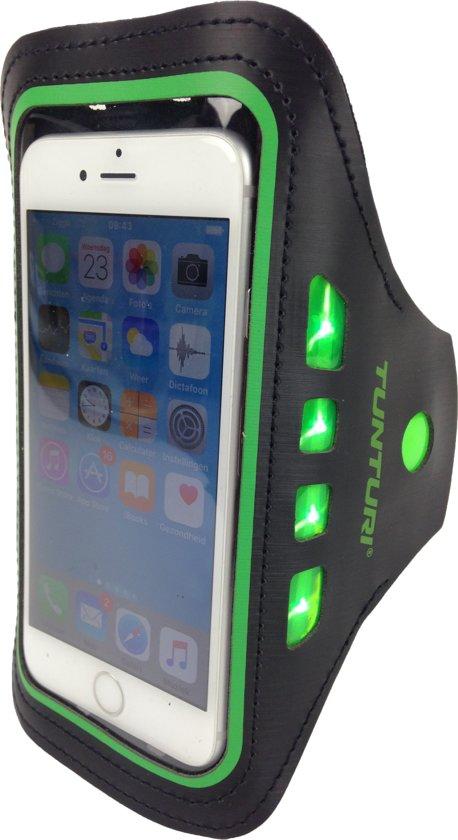 Tunturi Sport Telefoonarmband - Sportarmband - Hardloop armband - Smartphone armband - met Led hardloopverlichting Groen