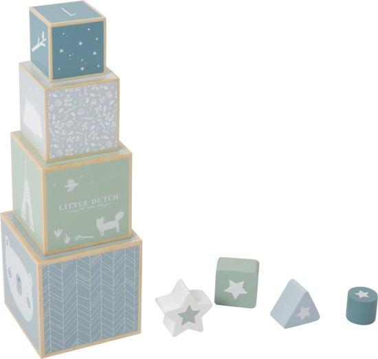 Afbeelding van Little Dutch Stapelblokken Adventure Blue speelgoed