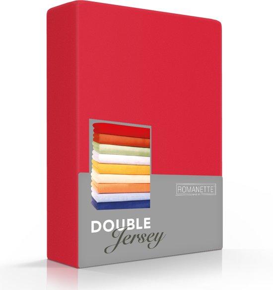 Comfortabele Dubbel Jersey Hoeslaken Rood | 80x210| Heerlijk Zacht | Extra Dikke Kwaliteit