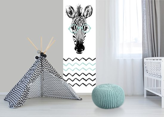 Kinderkamer Patronen Behang : Bol babykamer behang paneel zebra mint
