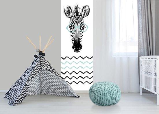 Babykamer Behang Groen : Bol babykamer behang paneel zebra mint