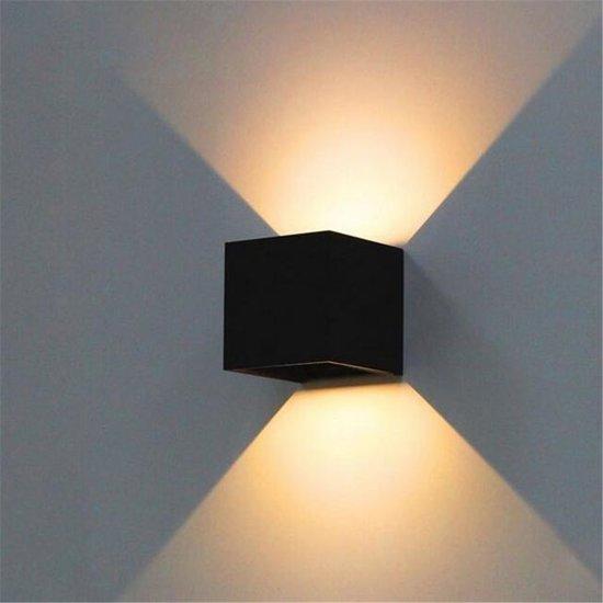 Uitzonderlijk bol.com | LED Wandlamp STRAK zwart Cube dimbaar 10cm SW53