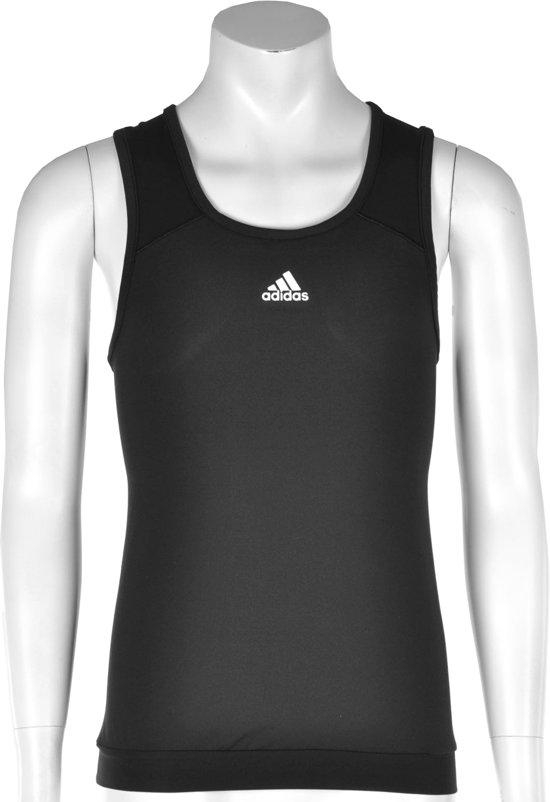 adidas Girls Response Tank - Sporttop - Kinderen - Maat 176 - Zwart