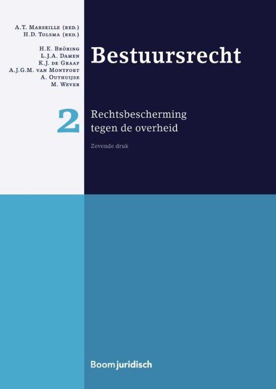Boek cover Boom Juridische studieboeken - Bestuursrecht 2 rechtsbescherming tegen de overheid van  (Hardcover)