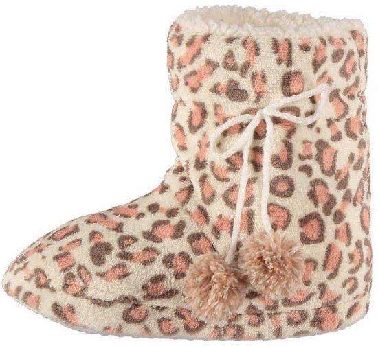 Hoge dames sloffen met luipaard print roze 37-38