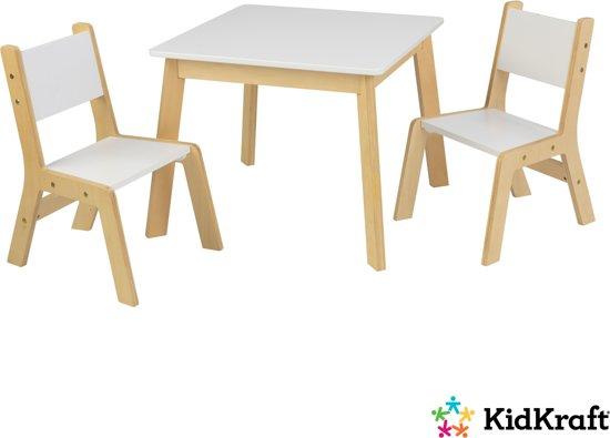 KidKraft Moderne set met tafel en 2 stoelen - wit