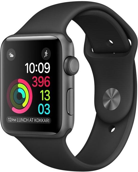 Apple Watch Series 2 Smartwatch 42mm - Spacegrijs Aluminium / Zwart sportband