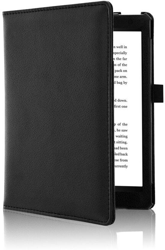 Kobo Aura H2O Edition 2 (6,8') Soft Cover Zwarte Leren Hoes / Sleepcover / Case / Beschermhoes