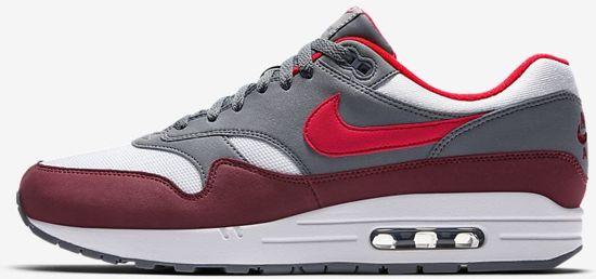bol.com | Nike Air Max 1 - Wit / Rood - Maat 41