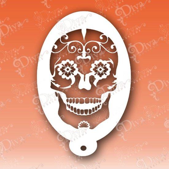 Sjabloon Halloween.Bol Com Sugar Skull Schmink Sjabloon Halloween