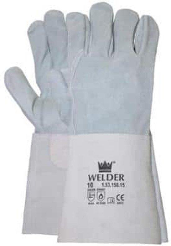 Lashandschoenen splitleder - 5 vingers met kap - CE/2 - maat 10