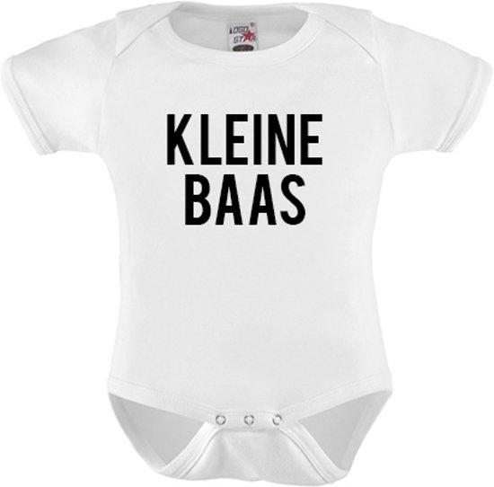 Baby Rompertje Kleine Baas Boss Baby Maat 92 Cadeau Zwangerschap Kado Aankondiging Romper Uniek Tekst Hip