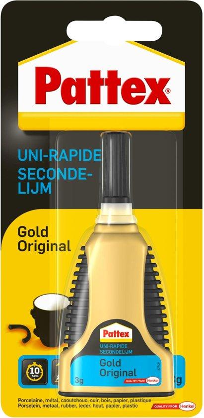 Pattex Gold Original Secondelijm - 3 Gram - Transparant