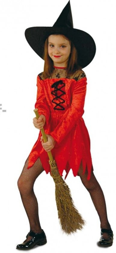 Halloween Rode heksenjurk voor meisjes 116 (6 jaar)