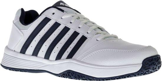 K Swiss Court Smash Omni Tennisschoen Heren Tennisschoenen Maat 42.5 Mannen witblauw